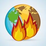 Ahorre el diseño del planeta Icono de la ecología Piense el concepto verde Foto de archivo libre de regalías