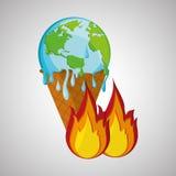 Ahorre el diseño del planeta Icono de la ecología Piense el concepto verde, ejemplo del vector Foto de archivo libre de regalías