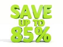 Ahorre el hasta 85% Foto de archivo libre de regalías