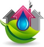 Ahorre el logotipo del agua de lluvia stock de ilustración