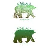 Ahorre el planeta + el oso Imagen de archivo libre de regalías