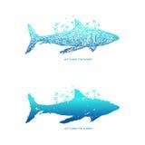 Ahorre el planeta + el tiburón Foto de archivo libre de regalías