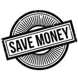 Ahorre el sello de goma del dinero Imagen de archivo libre de regalías