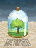 Ahorre a Forest Earth Day Imagen de archivo libre de regalías