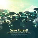 Ahorre a Forest Illustration stock de ilustración