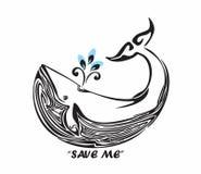 Ahorre la ballena tribal Imagen de archivo libre de regalías