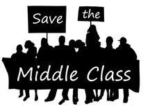 Ahorre la clase media Foto de archivo libre de regalías
