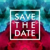 Ahorre la fecha para el día de fiesta personal Invitación de la boda Vector i Fotos de archivo libres de regalías