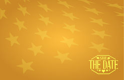ahorre la muestra de oro de las estrellas de la fecha Imagen de archivo