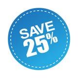 Ahorre la oferta 25 Stock de ilustración
