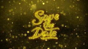 Ahorre la tarjeta de felicitaciones de los deseos de la fecha, invitación, fuego artificial 1 de la celebración