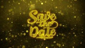 Ahorre la tarjeta de felicitaciones de los deseos de la fecha, invitación, fuego artificial de la celebración