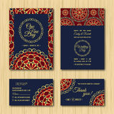Ahorre las tarjetas de RSVP de la fecha que se casan la paleta azul anaranjada de la invitación Fotos de archivo