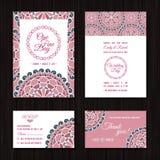 Ahorre las tarjetas de RSVP de la fecha que se casan la paleta de color salmón coralina de la invitación Imagenes de archivo
