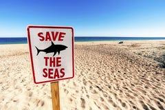 Ahorre los mares firman imagen de archivo libre de regalías