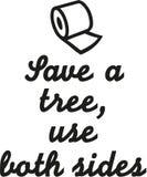 Ahorre un árbol, utilice ambos lados stock de ilustración
