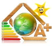Ahorro de energía - madera y tierra Imagenes de archivo