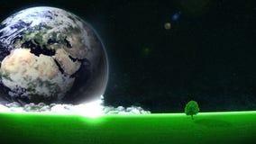 Ahorro de energ?a Excepto la tierra Concepto de Eco Fondo del ambiente mundial Animaci?n del lazo libre illustration