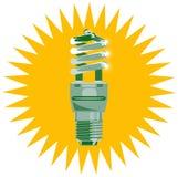 Ahorro de la energía de la bombilla Fotografía de archivo libre de regalías