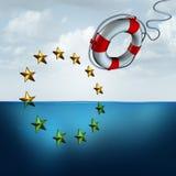 Ahorro de la unión europea stock de ilustración
