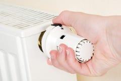 Ahorro de los costes de la calefacción Fotografía de archivo libre de regalías