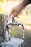 Ahorro del agua Imagen de archivo libre de regalías
