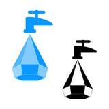 Ahorro del agua del logotipo Fotos de archivo