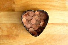 Ahorro del amor Fotografía de archivo libre de regalías