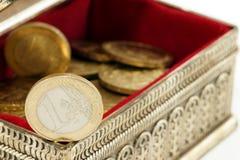 Ahorro del dinero Foto de archivo libre de regalías