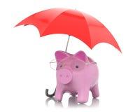 Ahorro del dinero, concepto de la protección Imagenes de archivo