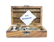 Ahorro del dinero para el retiro Imagen de archivo libre de regalías