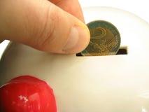 Ahorro euro del dinero Imagen de archivo libre de regalías