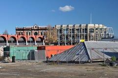 Ahorro McKenzie y fachada de Willis, Christchurch Imágenes de archivo libres de regalías