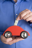 Ahorro para un coche Imágenes de archivo libres de regalías