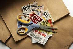 Ahorros de la cupón Fotos de archivo libres de regalías