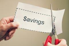 Ahorros de la cupón del recortes fotografía de archivo libre de regalías