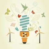 Bulbo ahorro de energía libre illustration