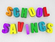 Ahorros de la escuela - imanes del refrigerador Imagen de archivo libre de regalías