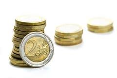 Ahorros de la pila Foto de archivo libre de regalías