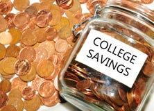 Ahorros de la universidad imágenes de archivo libres de regalías