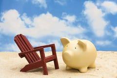 Ahorros de las vacaciones imagenes de archivo