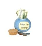 Ahorros del día lluvioso Fotografía de archivo libre de regalías