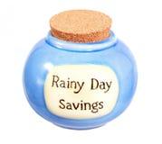 Ahorros del día lluvioso Fotografía de archivo