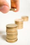 Ahorros del dinero Fotografía de archivo libre de regalías