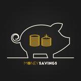 Ahorros del dinero Imagen de archivo libre de regalías