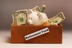 Ahorros del retiro en rectángulo Foto de archivo libre de regalías