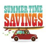 Ahorros del tiempo de verano Foto de archivo libre de regalías