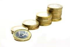 Ahorros en euro Fotografía de archivo libre de regalías