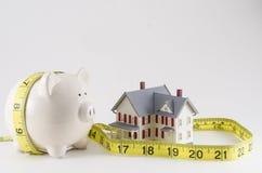 Ahorros en un presupuesto dom'estico imagen de archivo