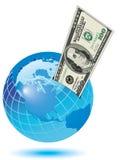 Ahorros globales ilustración del vector
